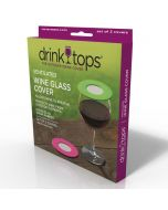 Drink Top Wine Ventilating Toppers: Wine without the bugs! 2 pack!