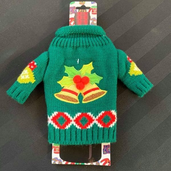 Ugly wine sweater bells