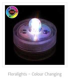 Water beads floralights color changing single
