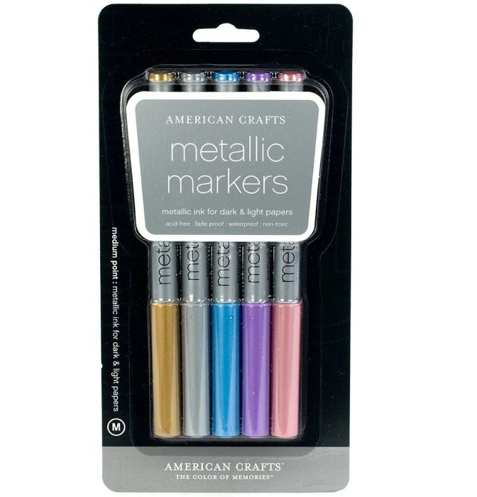 American Craft Metallic Markers set of 5