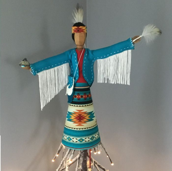 Featured Artisan: Indigenous Tree & Shelf Toppers by Nancy Potvin
