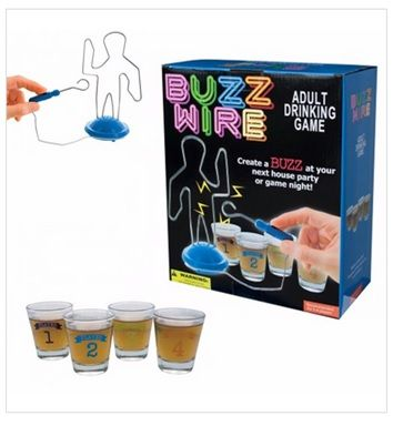 Buzz Wire Drinking Game: How steady is your hand?