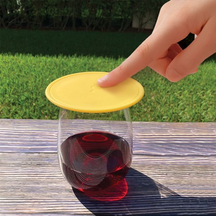 Drink Tops: Tap & Seal Drink Toppers: Keep out the bugs! 2 pack!