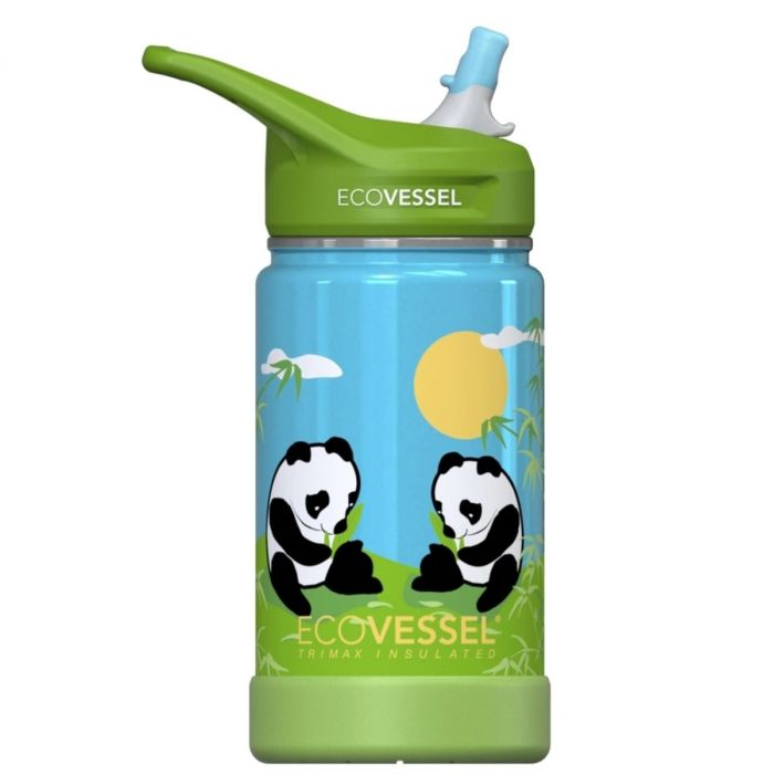 ECOVESSEL FROST STAINLESS  EASY CLEAN 12 OZ C/W STRAW