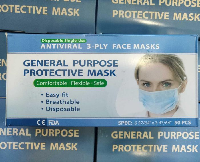 Single Use, Disposable 3 ply Face Masks