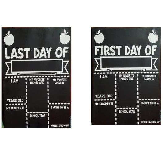 first and last day of school signs