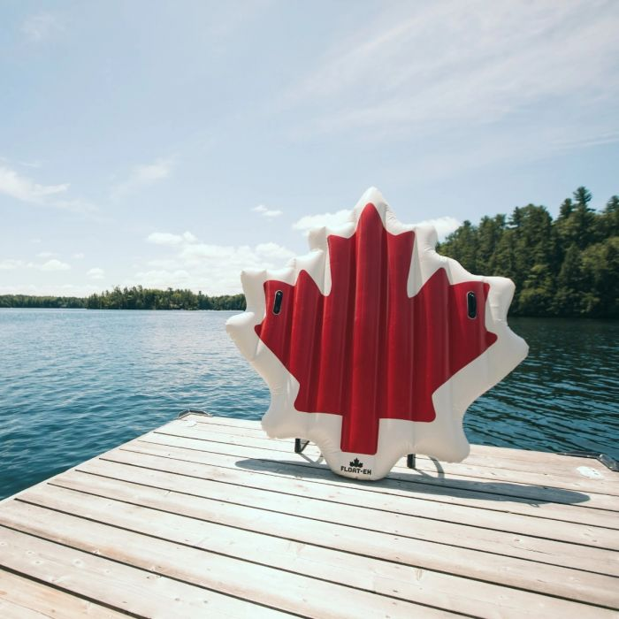 Float-eh Canadian JUMBO Inflatables! The Maple Leaf