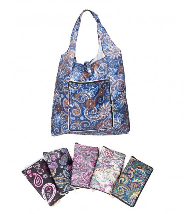 Reusable Folding Bags with the zipper closure!