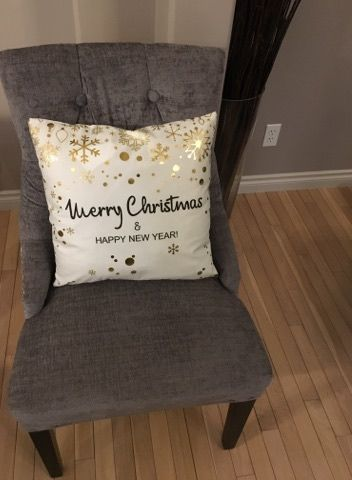 holiday pillow happy new year