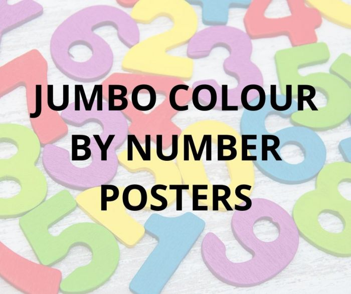 JUMBO COLOUR BY NUMBER POSTERS!