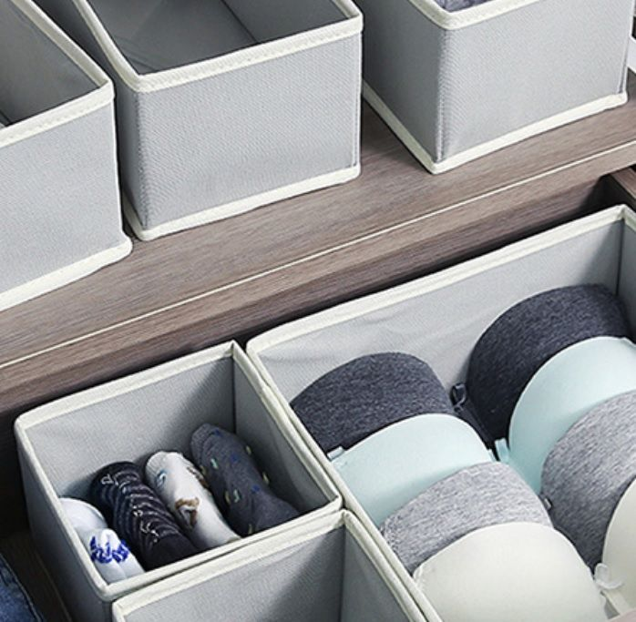 organize cloth grey