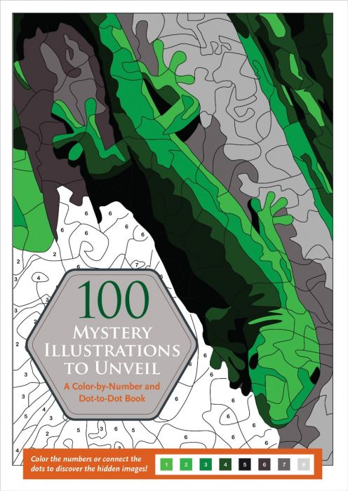 100 Mystery Illustrations to Unveil: Color-by-Number & Dot-to-Dot Book!