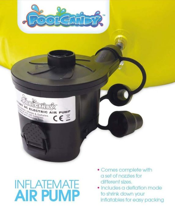 Pool Candy Inflatable Air Pump: Battery operated OR Plug in!