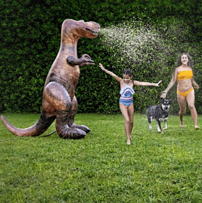 PoolCandy GINORMOUS Dino Sprinkler! Over 6' tall!!
