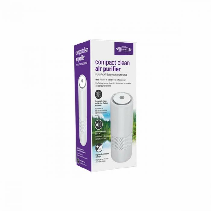 Compact Personal Air Purifier by Relaxus: Includes Composite HEPA filter!