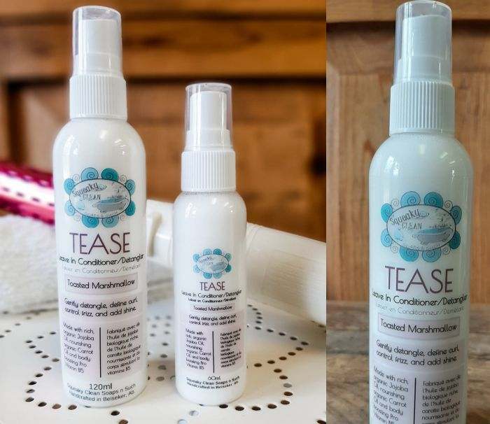 TEASE HAIR DETANGLER & LEAVE IN CONDITIONER by Squeaky Clean Soaps N Such