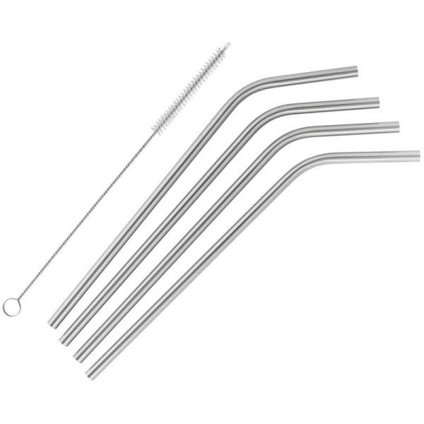 stainless steel straw set of 4