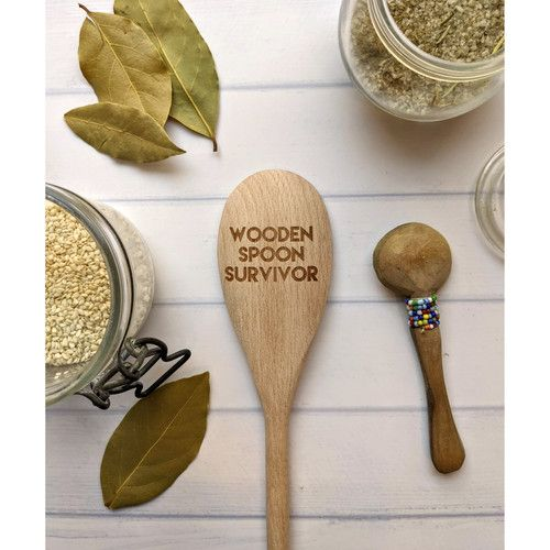 Engraved Wooden Spoons: Fun phrases for anyone!
