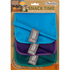 Chicobag Snack Time Reusable Bags 3 pack
