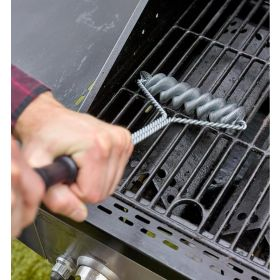BBQ Bristless Wire Brush and Flexible BBQ skewers! Just in time for Grille Season!