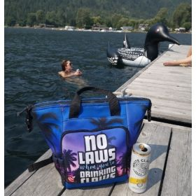 The Perfect Mini Cooler: attach to your pool floatie! Sip in the Sun!