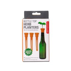 Terracotta Bottle Top Herb Planters Trio Pack