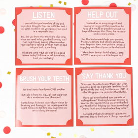 """A little extra help for good behavior! These """"Elf Advice"""" Cards are great!"""