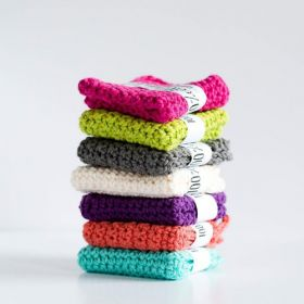 Cotton Knit Washcloths: 6 pack assorted!