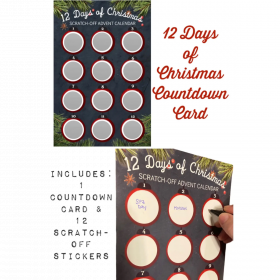 CREATE YOUR OWN 12 Days of Christmas Countdown Scratch-off Advent Calendar!!