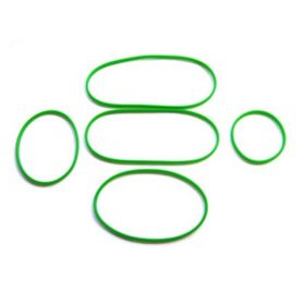go green silicone bands green