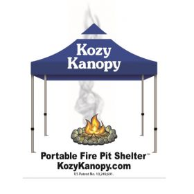 KOZY KANOPY: Patented Fire pit Shelters!
