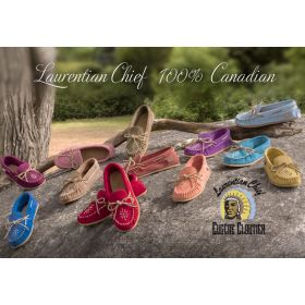 Laurentian Chief Ladies Colourful Beaded Moccasins!