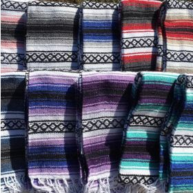 Authentic Mexican Falsa Blankets! Great for Camping, picnics, outdoor yoga and more!