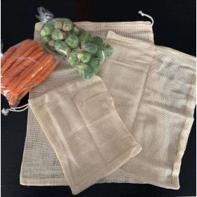 Reusable Organic Cotton Produce Bags, 3 pack!