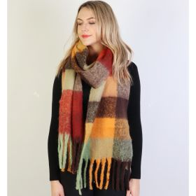 Get ready for FALL! UBER SOFT PLAID SCARVES FOR ALL!-Orange