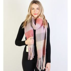 Get ready for FALL! UBER SOFT PLAID SCARVES FOR ALL!-Pink