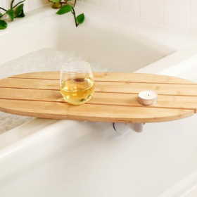 Kikkerland Bath Caddy! The only thing you really want to accompany you in the bath!
